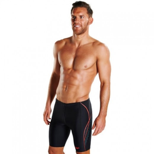 SPEEDO Alov Panel Jammer Black/Blue-01