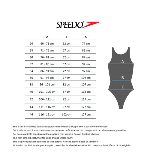 Speedo Badedragt Placement Laneback Black/Phoenix Red-05