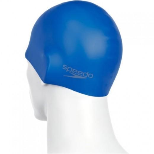 Speedo Plain Silicone Badehætte Voksen Blå-01