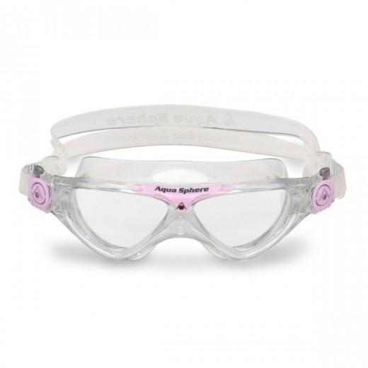 Aqua Sphere Vista Junior Svømmebrille Klar Lens Glitter/pink-01