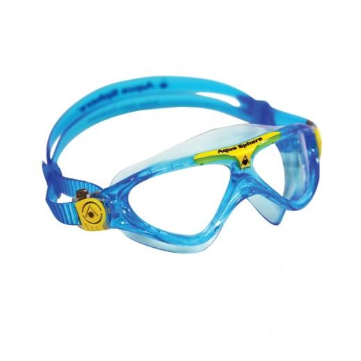 AquaSphereVistaJuniorSvmmebrilleKlarLensAquaGul-32