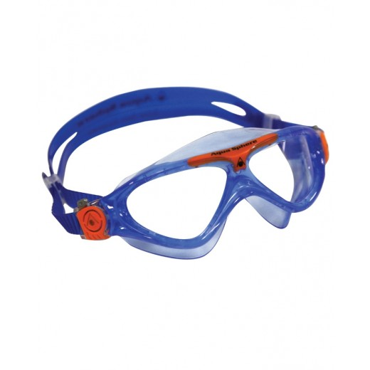 Aqua Sphere Vista Junior Svømmebrille Klar Lens Blue/orange-31