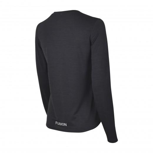 Fusion C3 Dame LS Shirt Sort-Melang-01