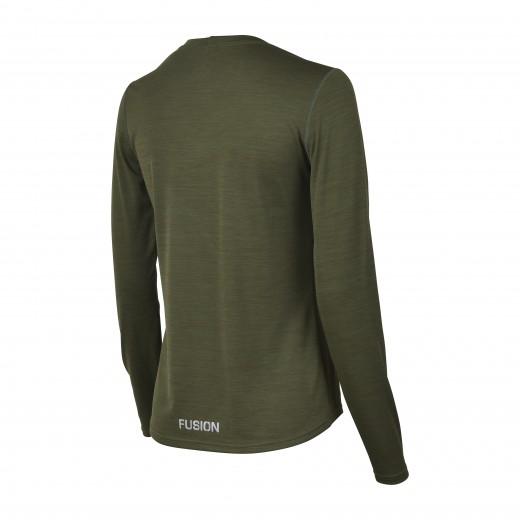 Fusion C3 Dame LS Shirt Green-Melang-01