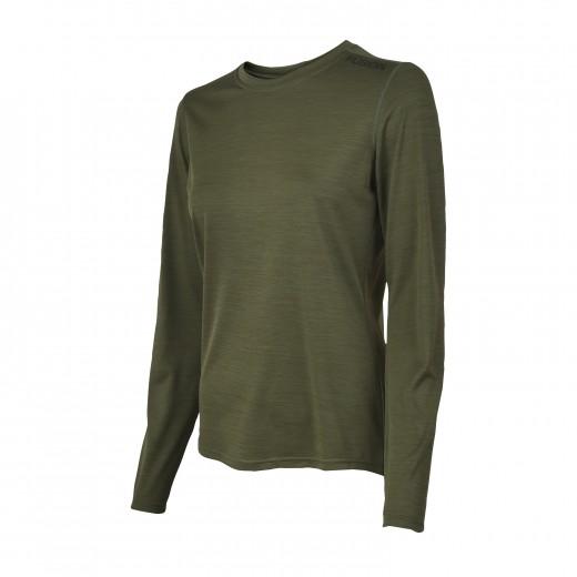 Fusion C3 Dame LS Shirt Green-Melang-31