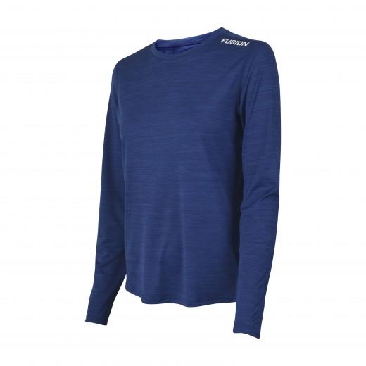 Fusion C3 Dame LS Shirt Blå-Melang-32