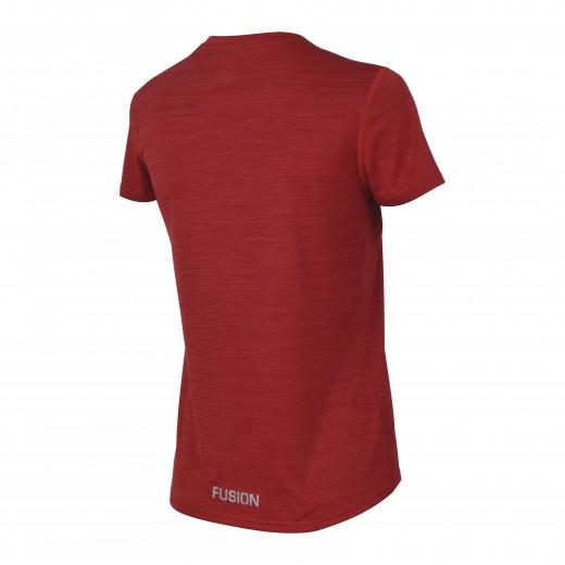 Fusion C3 T-Shirt dame RødMelange-02