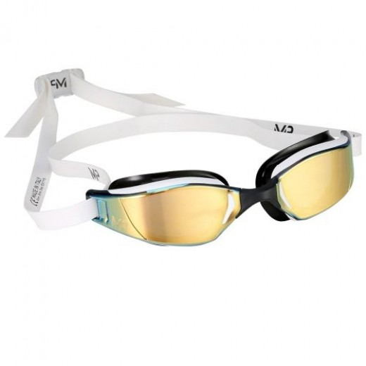 Michael Phelps Xceed Titanium Mirror White/Black Gold Edition-01