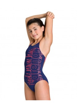Arena Little Stars V Back One Piece Swimsuit Junior Navy/Fluo Red-20