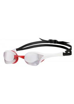 Arena Cobra Ultra Mirror Sølv linse Svømmebrille Hvid/Rød-20