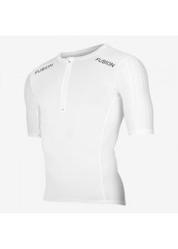 Fusion SLi Tri Top Short Sleev Hvid/Hvid 2019 NYHED-20
