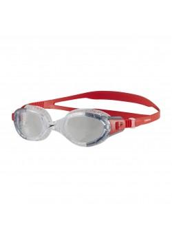 Speedo Futura Biofuse Flexiseal Svømmebrille Lava Red/Clear Lens-20