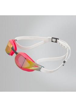 Speedo Fastskin Elite Mirror Svømmebrille White/Psycho Rød-20