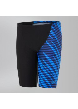 Speedo SmashBash Allover V Cut Black/Blue Jammer Drenge-20