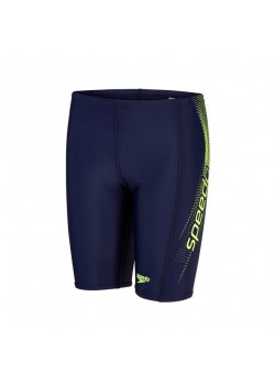 SPEEDO Logo Panel Jammer Barn/Ung Navy/Green-20