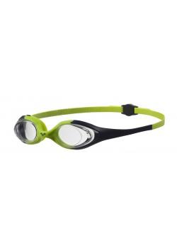 Arena Spider Junior Svømmebrille Klar glas Grøn/Sort-20