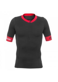 Mens Tri Top Short Sleeve sort/rød-20