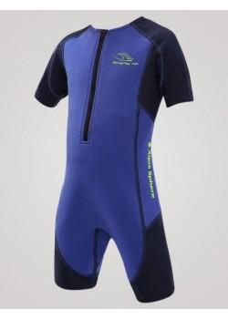 Aqua Sphere Stingray Junior svømmedragt 2mm neopren 1-12 år Blå-20