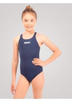 Arena Solid Swim Pro Pige Jr NavyBlå-20