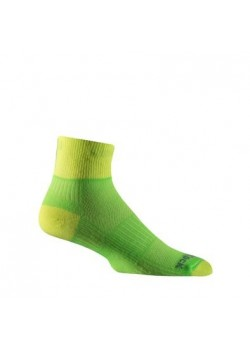 Wrightsock Quarter Løbestrømpe Coolmesh II Lemon/Lime-20