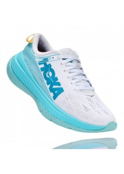 Hoka One One Carbon-X Dame White/BlueIce-20