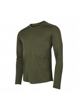 Fusion C3 Herre LS Shirt Green-Melange-20