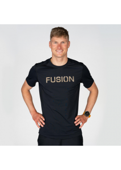 Fusion Mens C3 RECHARGE T-Shirt Sort-20