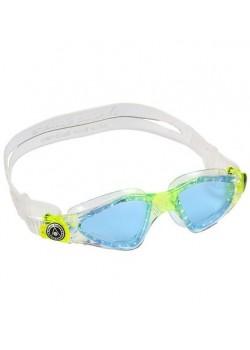 Aqua Sphere Svømmebriller Kayenne Jr Transparent/Lime med Blå glas-20