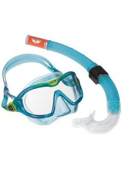 Aqua Sphere Snorkel sæt Combomix AquaBlue/green-20