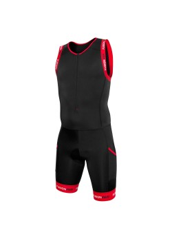 Fusion Multisport F_Zip Suit Sort/Rød-20