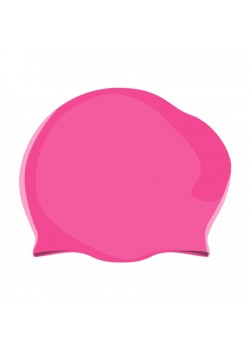 Badehætte Voksen Silicone Langt hår Pink-20