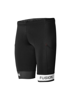 Fusion Tri PWR Band Pokt Tights Black/White-20