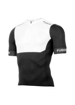 Fusion SLi Tri Top Short Sleeve Sort/hvid-20