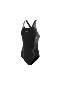 Speedo Badedragt Placement Laneback Black/Oxid-20