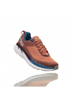 Hoka Clifton 5 Emberglow/Fig Dame-20