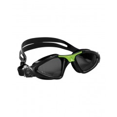Aqua Sphere KAYENNE - Sort/Grøn Svømmebrille - SMOKE LENS