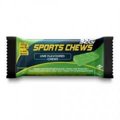 32Gi Sport Chews med lime smag - 12 stk. i Kasse.